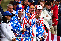 September 30, 2017 - Jersey City, New Jersey, U.S - Fans during Saturday matches of the Presidents Cup at Liberty National Golf Club in Jersey City, NJ  (Credit Image: © Brian Ciancio via ZUMA Wire)