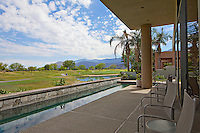 Scenic view of mountains and landscape from patio of luxury villa