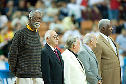FIBA EUROPE 2009 Hall of Fame with Bill Russell during the EuroBasket 2009 3rd place match between Slovenia and Greece, on September 20, 2009, in Arena Spodek, Katowice, Poland.   (Photo by Vid Ponikvar / Sportida)