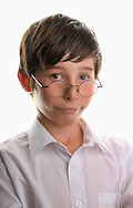 Young Boy Wearing Round Reading Glasses - 2013