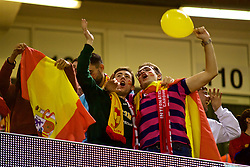 CARDIFF, WALES - Thursday, October 11, 2018: Spain supporters during the International Friendly match between Wales and Spain at the Principality Stadium. (Pic by Lewis Mitchell/Propaganda)