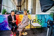 WASHINGTON - Koningin Maxima tijdens een Facebook live interview in Washington. Zij is daar aanwezig in haar functie van speciale pleitbezorger van de VN secretaris-generaal voor inclusieve financiering voor ontwikkeling. ANP ROYAL IMAGES ROBIN UTRECHT NETHERLANDS ONLY
