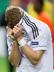 Rejected Timo Werner of Germany after the UEFA European Under-17 Championship Final match between Germany and Netherlands on May 16, 2012 in SRC Stozice, Ljubljana, Slovenia. Netherlands defeated Germany after penalty shots and became European Under-17 Champion 2012. (Photo by Vid Ponikvar / Sportida.com)