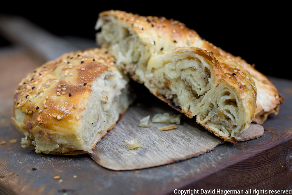 in Sinop, on the Black Sea, walnuts are put to good use in nokul, giant spiralled baked pastries made sweet, with nuts and raisins, or savory, with spinach and cheese or minced meat and raisins.