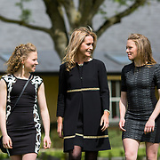 05.05. 2017.                                                 <br /> JP McManus today announced a further &euro;32 million investment in Third Level Education Scholarships for eligible students throughout Ireland, North and South. He was joined by the Minister for Education &amp; Skills, Richard Bruton T.D. and former All Ireland Scholarship recipients to make the announcement in Adare, Co Limerick. <br /> <br /> Pictured at the event in the Dunraven Arms were, Sue Ann Foley daughter of JP McManus (centre) with 2010 scholarship recipients, twins, Lisa and Linda Bolger, Kilrane Co. Wexford. Picture: Alan Place.