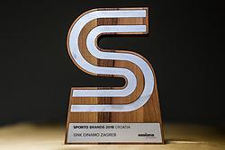 Sports Trophy for best brand during Sports marketing and sponsorship conference Sporto 2018, on November 22, 2017 in Hotel Slovenija, Congress centre, Portoroz / Portorose, Slovenia. Photo by Vid Ponikvar / Sportida