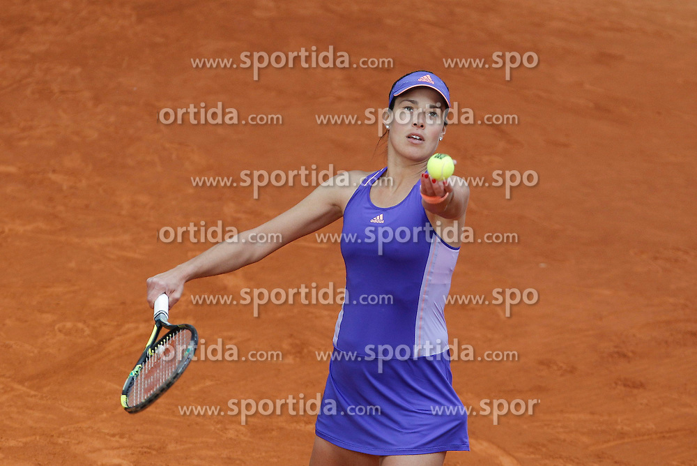 06.05.2015, Caja Magica, Madrid, ESP, WTA Tour, Mutua Madrid Open, im Bild Ana Ivanovic from Serbia // during the Madrid Open of WTA World Tour at the Caja Magica in Madrid, Spain on 2015/05/06. EXPA Pictures &copy; 2015, PhotoCredit: EXPA/ Alterphotos/ Victor Blanco<br /> <br /> *****ATTENTION - OUT of ESP, SUI*****