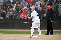 KELOWNA, CANADA - JUNE 28: NHL Montreal Canadiens Brendan Gallagher steps up to the plate during the opening charity game of the Home Base Slo-Pitch Tournament fundraiser for the Kelowna General Hospital Foundation JoeAnna's House on June 28, 2019 at Elk's Stadium in Kelowna, British Columbia, Canada.  (Photo by Marissa Baecker/Shoot the Breeze)