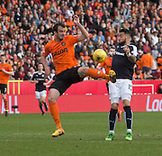 Dundee United's Gavin Gunning and Dundee&rsquo;s Kane Hemmings - Dundee United v Dundee in the Ladbrokes Premiership at Tannadice<br /> <br />  - &copy; David Young - www.davidyoungphoto.co.uk - email: davidyoungphoto@gmail.com