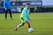 Forest Green Rovers Matt Tubbs(20) warming up during the Vanarama National League match between Forest Green Rovers and Aldershot Town at the New Lawn, Forest Green, United Kingdom on 5 November 2016. Photo by Shane Healey.