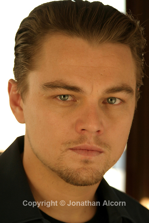 "Actor Leonard DiCaprio poses for a portrait during a  press tour for the film ""Aviator"" at the Beverly WIlshire Hotel on December 2, 2004."