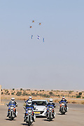 Israel, Hazirim, near Beer Sheva, Flight School graduation Parade. Motorcycle convoy