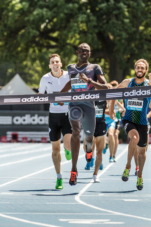 adidas Grand Prix Diamond League Track & Field: Men's 800m, David Radish, Kenya, wins