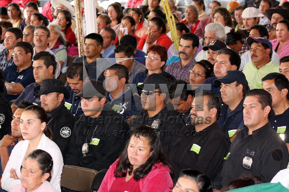 VILLA GUERRERO, México.- Policias minusteriales en la entrega de las instalaciones del centro de justicia en Villa Guerrero. Agencia MVT / José Hernández. (DIGITAL)