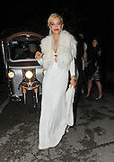 21.MAY.2012. CANNES<br /> <br /> RITA ORA LEAVING THE CHOPARD PARTY AT A PRIVATE VILLA IN CANNES. THE CELEBS WERE TAKEN TO THE PARTY AND BACK TO THE ENTRANCE ON RICKSHAWS.<br /> <br /> BYLINE: EDBIMAGEARCHIVE.COM<br /> <br /> *THIS IMAGE IS STRICTLY FOR UK NEWSPAPERS AND MAGAZINES ONLY*<br /> *FOR WORLD WIDE SALES AND WEB USE PLEASE CONTACT EDBIMAGEARCHIVE - 0208 954 5968*
