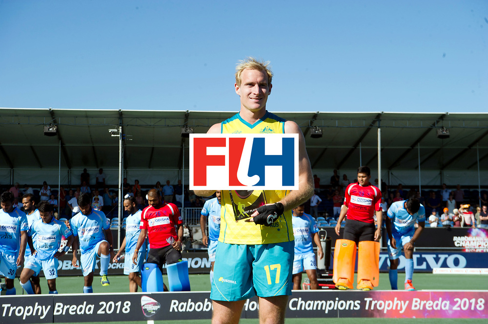 BREDA - Rabobank Hockey Champions Trophy<br /> Final Australia - India<br /> Australia won after shoot outs.<br /> Photo: Best Player.<br /> COPYRIGHT WORLDSPORTPICS FRANK UIJLENBROEK