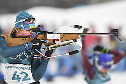 February 10, 2018 - Pyeongchang, GANGWON, SOUTH KOREA - Feb 10, 2018-Pyeongchang, South Korea-Iryna VARVYNETS of Ukraine action on the snow during an Olympic Biathlon Women Sprint 7.5Km at Biathlon Center in Pyeongchang, South Korea. (Credit Image: © Gmc via ZUMA Wire)