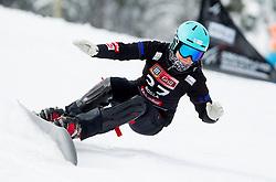 Gloria Kotnik of Slovenia during Qualification Run of FIS Snowboard World Cup Rogla 2013 in Parallel Giant slalom, on February 8, 2013 in Rogla, Slovenia. (Photo By Vid Ponikvar / Sportida.com)