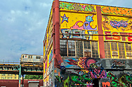 "5 Pointz, world's premiere ""graffiti place, Long Island City,  Subway, Queens, New York City, New York, USA"
