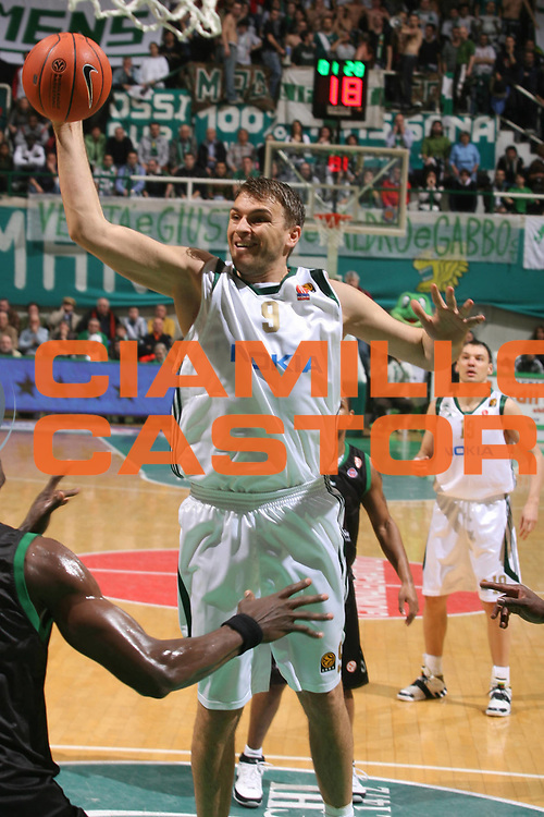 DESCRIZIONE : Siena Eurolega 2007-08 Top 16 Montepaschi Siena Panathinaikos Atene <br /> GIOCATORE : Andrija Zizic <br /> SQUADRA : Panathinaikos Atene <br /> EVENTO : Eurolega 2007-2008 <br /> GARA : Montepaschi Siena Panathinaikos Atene <br /> DATA : 27/02/2008 <br /> CATEGORIA : Passaggio <br /> SPORT : Pallacanestro <br /> AUTORE : Agenzia Ciamillo-Castoria/G.Ciamillo