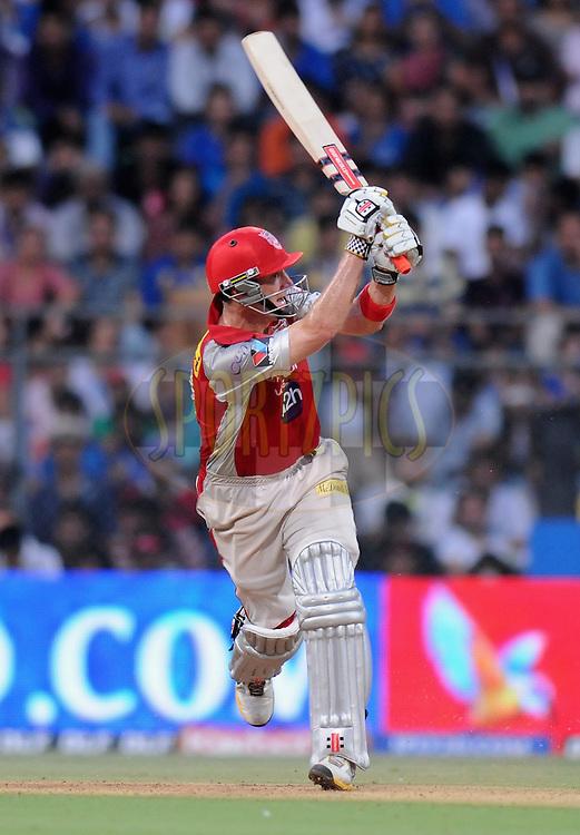 David Hussey of Kings XI Punjab bats during match 28 of the Indian Premier League ( IPL) 2012  between The Mumbai Indians and the Kings X1 Punjab held at the Wankhede Stadium in Mumbai on the 22nd April 2012..Photo by Pal Pillai/IPL/SPORTZPICS.