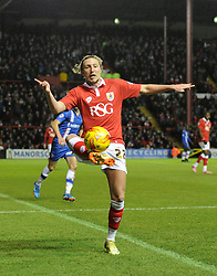 Bristol City's Luke Ayling in action during the Johnstone's Paint Trophy south area final second leg match between Bristol City and Gillingham at Ashton Gate on 29 January 2015 in Bristol, England - Photo mandatory by-line: Paul Knight/JMP - Mobile: 07966 386802 - 29/01/2015 - SPORT - Football - Bristol - Ashton Gate Stadium - Bristol City v Gillingham - Johnstone's Paint Trophy