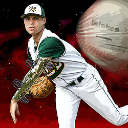 Kyle Green | The Roanoke Times<br /> June 19, 2007 ***Photo Illustration*** Timesland Baseball player of the year, Lefty Flora, from Northside High School.
