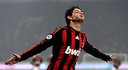 Brazilian forward Pato celebrates scoring the winning goal during his team's Italian Serie A match against Fiorentina on January 17, 2009 at San Siro Stadium in Milan. AC Milan defeated Fiorentina 1-0.