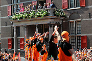 Koninginnedag 2011 in de Limburgse plaats Weert // Queen's Day 2011 in the southern of Holland ( Limburg). The Royal family is visiting the city of Weert.<br /> <br /> Op de foto / On the photo:  The Dutch Royal Family - Koningin Beatrix / Queen Beatrix<br /> <br /> Princes Maxima and Prince Willem Alexander<br /> <br /> Prins Pieter-Christiaan en Prinses Anita <br /> <br /> Prins Floris en  Prinses Aimée <br /> <br /> Prins Johan Friso en en Prinses Mabel<br /> <br /> Prins Maurits en Prinses Marilène<br /> <br /> Prinses Magriet en Mr. Pieter van Vollenhoven<br /> <br /> Prinses Laurentien en Prins Constantijn<br /> <br /> Prins Bernhard en Prinses Annette
