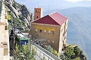 Santa Maria de Montserrat Abbey, Catalonia, Spain Cable Car station