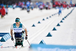 competing in the ParaSkiDeFond, Para Nordic Skiing, Sprint at  the PyeongChang2018 Winter Paralympic Games, South Korea.
