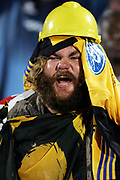 A Hurricanes fan during the Super 14 rugby union match between the Bulls and Hurricanes at Loftus Pretoria, South Africa, on Friday 17 March, 2006. The Hurricanes won the match 26-23. Photo: Africa Visuals/PHOTOSPORT **NZ USE ONLY**<br /> <br /> <br /> 149901
