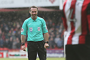 Match Referee Paul Tierneyduring the EFL Sky Bet Championship match between Sheffield United and Nottingham Forest at Bramall Lane, Sheffield, England on 17 March 2018. Picture by Mick Haynes.