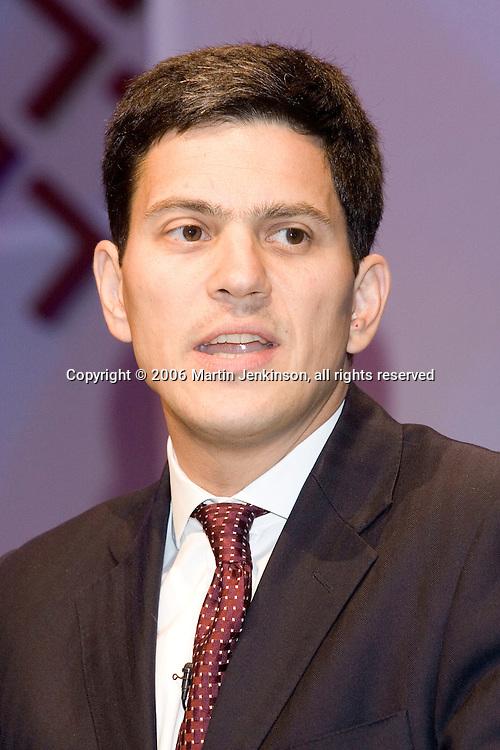 The Right Honourable David Miliband MP, Labour Sunderland South, Environment Secretary.