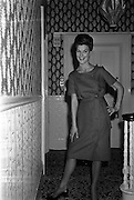 12/09/1962<br /> 09/12/1962<br /> 12 September 1962<br /> Fashion: Veronica Jaye Autumn/Winter collection 1962 fashion show at the Northbrook Hotel, Dublin. Scarlet linen dress worn by Olive.