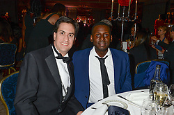 Left to right, ED MILIBAND and STUART LAWRENCE at the inaugural Stephen Lawrence Memorial Ball held at The Dorchester, Park Lane, London on 17th October 2013.