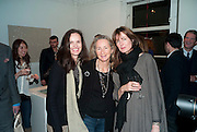 BETTINA VON HASE; PRISCILLA RATAZZI; INDIA JANE BIRLEY, Book signing reception for a photo book of Black and White photographs of dogs Luna and Lola'  by Priscilla Rattazzi. Mungo and Maud. Elizabeth st. London. 9 November 2008. -DO NOT ARCHIVE-© Copyright Photograph by Dafydd Jones. 248 Clapham Rd. London SW9 0PZ. Tel 0207 820 0771. www.dafjones.com.