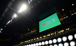Var system is displayed inside the Stamford Bridge  - Mandatory by-line: Alex James/JMP - 10/01/2018 - FOOTBALL - Stamford Bridge - London, England - Chelsea v Arsenal - Carabao Cup semi-final first leg