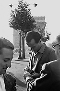 Harry Belafonte signing autographs on the Champs Elys&eacute;es in Paris, France.<br />