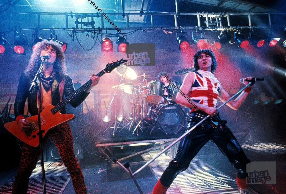 UK Heavy Metal Stars - Def Leppard - Live at video shoot 1983