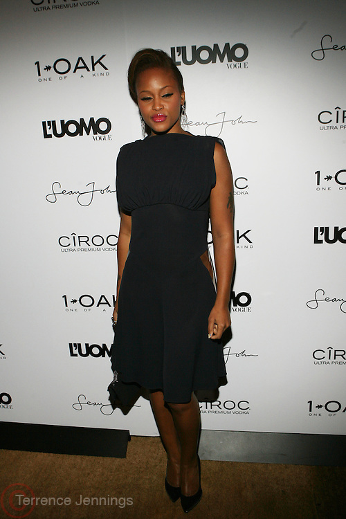 """Eve at the cocktail party celebrating Sean """"Diddy"""" Combs appearance on the """" Black on Black """" cover of L'Uomo Vogue's October Music Issue"""