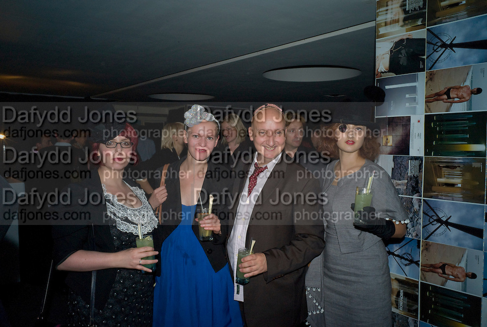LEILA AB EL HAWA; MARIA EISL;  ; STEPHEN JONES; ADELLE MILDRED, Wallpaper magazine celebrates the second guest editors issue. Pre-launch of  Paramount at Centrepoint.London 16 September 2008. *** Local Caption *** -DO NOT ARCHIVE-© Copyright Photograph by Dafydd Jones. 248 Clapham Rd. London SW9 0PZ. Tel 0207 820 0771. www.dafjones.com.