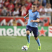 HARRISON, NEW JERSEY- AUGUST 25: Ben Sweat #2 of New York City FC in action during the New York Red Bulls Vs New York City FC MLS regular season match at Red Bull Arena, Harrison, New Jersey on August 25, 2017 in Harrison, New Jersey. (Photo by Tim Clayton/Corbis via Getty Images)