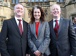 The three new Labour MP's from last week's by-elections arrive in Westminster, Monday, 3rd December 2012.  From left; Steve Reed (Croydon North), Sarah Champion, (Rotherham) and Andy McDonald (Middlesborough)   Photo by:  Stephen Lock /  i-Images