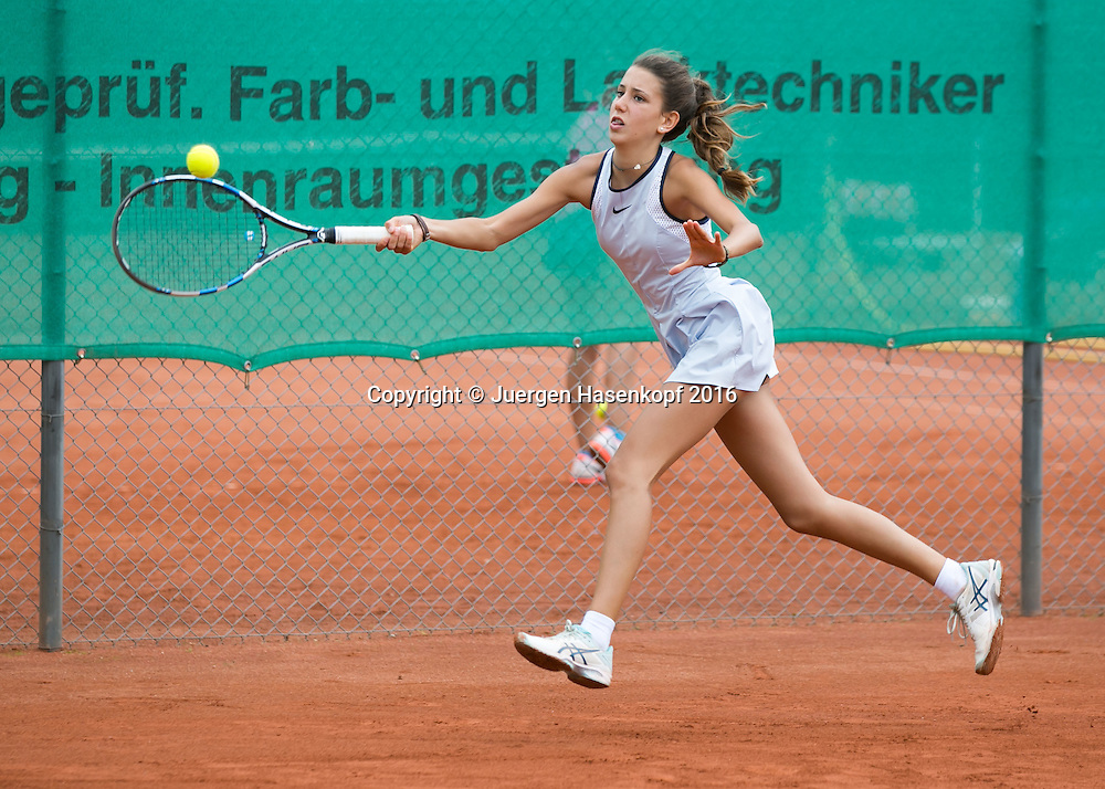 Tennis Europe-Bavarian Junior Open, Caterina Pantoli (ITA)  GS16<br /> <br /> Tennis - Bavarian Junior Open 2016 - Tennis Europe Junior Tour -  SC Eching - Eching - Bayern - Germany  - 9 August 2016. <br /> &copy; Juergen Hasenkopf