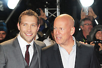 Jai Courtney; Bruce Willis, A Good Day To Die Hard - UK Film Premiere, Empire Cinema Leicester Square, London UK, 07 February 2013, (Photo by Richard Goldschmidt)