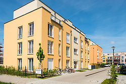 New apartment buildings at Adlershof Science and Technology Park in Berlin Germany