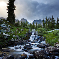 On our second night camping at Lake Ediza we hiked around searching for some good sunset light. Well we didn't get the light but found some cool waterfalls instead.