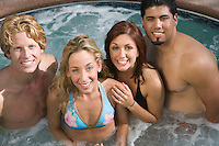 Group Portrait on Hot Tub