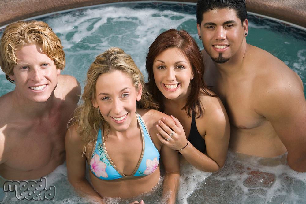 Group Portrait on Hot Tub